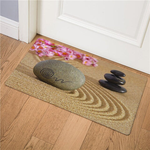 Tapis Bouddha <br> Galets Sable