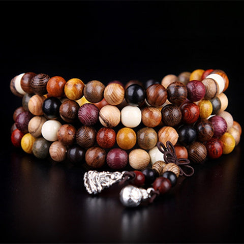 Bracelet Mala Tibetain <br> Multicolore Bouddhiste