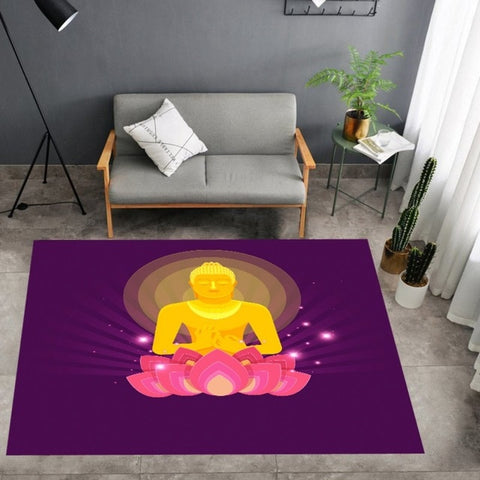 Tapis Bouddha <br> Lotus Rose