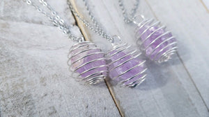 Caged Amethyst Necklace