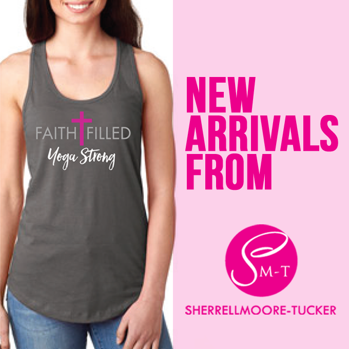 Faith-Filled, Yoga Strong Tank Top (Dark Gray)