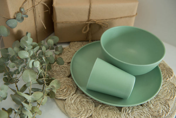 Bamboo Dinnerware Set - Forest Green