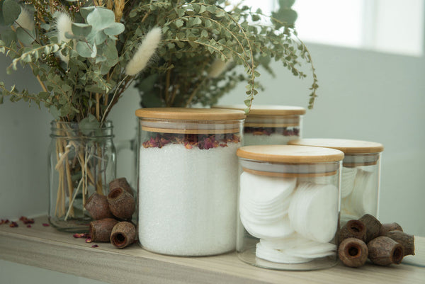 Small Pack - Bamboo Lids, Glass Storage Jars
