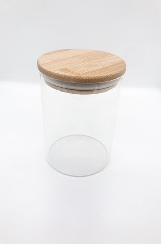 Bamboo Lid, Glass Storage Jar 1000ml