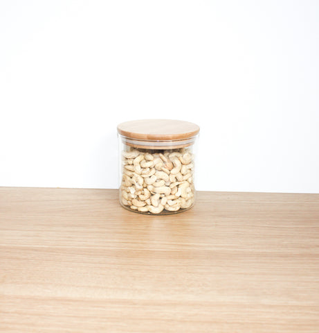 Bamboo Lid, Glass Storage Jar 500ml