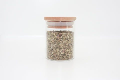 Bamboo Lid, Glass Storage Spice Jar 120ml