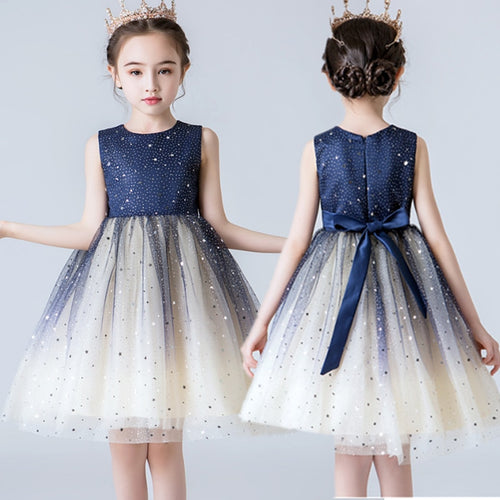 Applique Girl Dresses 2019 Summer Elegant Dress For Kids Party Birthday Prom Gowns Girl Wedding Frocks Infantil Vestidos 3 5 8T