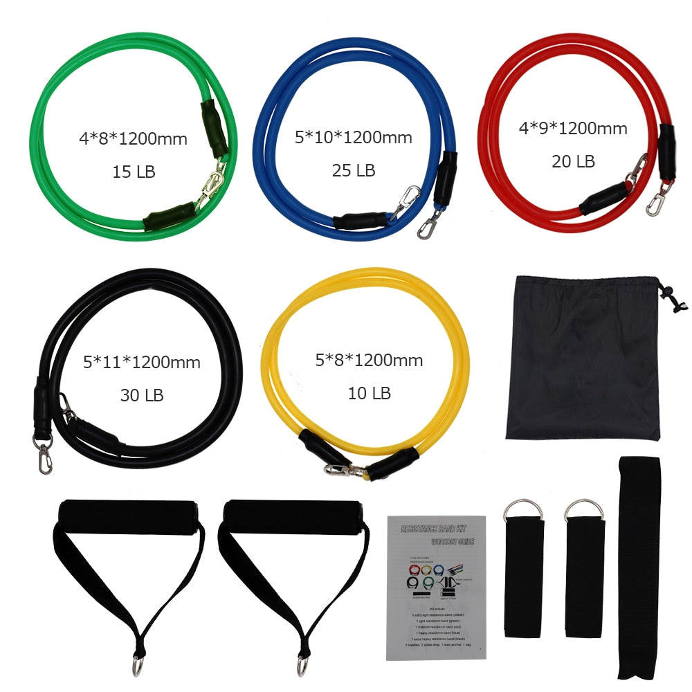 Resistance Bands Set - 11 Piece Set