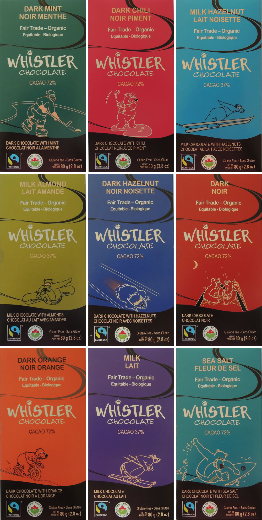 Whistler Chocolate Mix and Match