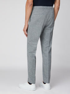 Light Grey Broken Check Suit Trouser