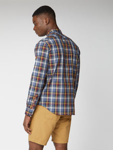 Long Sleeve Texture Check Shirt