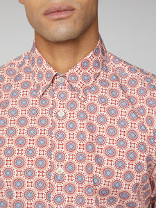 Long-Sleeve Floral Digi Print Shirt
