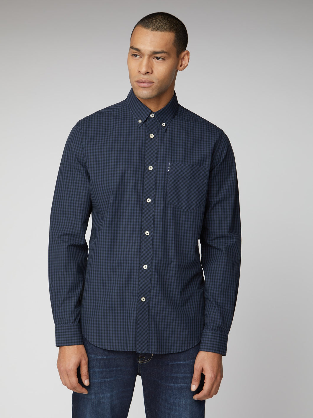 Long-Sleeve Signature Gingham Shirt