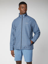 Load image into Gallery viewer, Blue Checked Shower Resistant Jacket