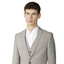 Load image into Gallery viewer, Grey Orange Prince of Wales Check Blazer