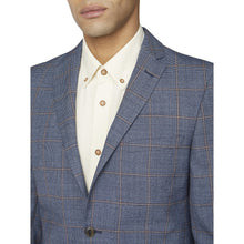 Load image into Gallery viewer, Blue Rust Windowpane Check Blazer
