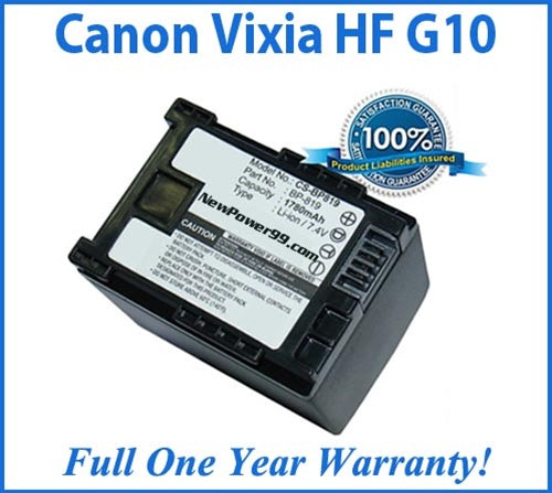 Extended Life Battery For The Canon Vixia HF G10 Camera - NewPower99 USA