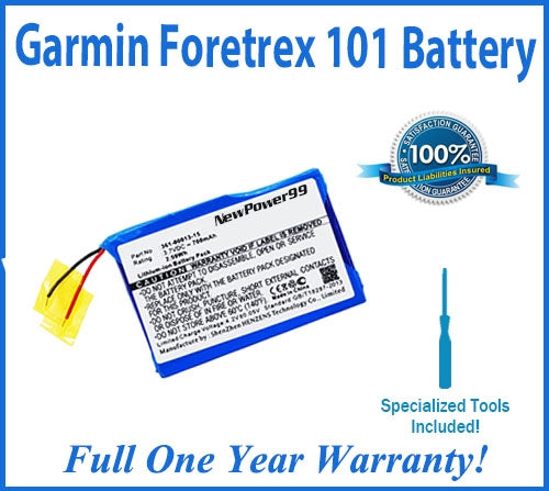 Garmin Foretrex 101 Battery Replacement Kit with Special Installation Tools, Extended Life Battery and Full One Year Warranty - NewPower99 USA