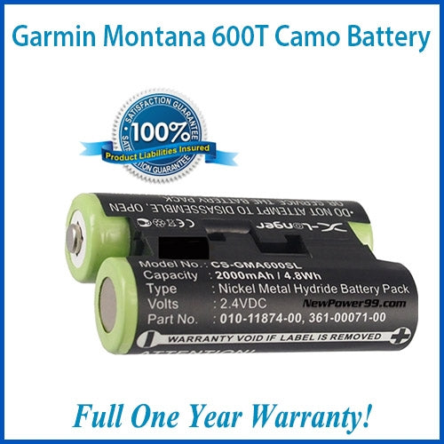 Garmin Montana 600t Camo Battery - Extended Life Battery with Installation Tools and full One Year Warranty - NewPower99 USA