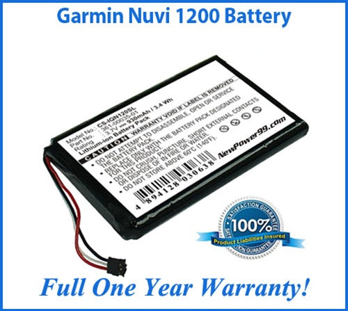 Garmin Nuvi 1200 Battery Replacement Kit with Tools, Video Instructions and Extended Life Battery - NewPower99 USA