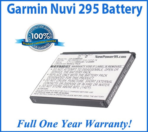 Battery Replacement Kit For The Garmin Nuvi 295 GPS with Special Installation Tools - NewPower99 USA