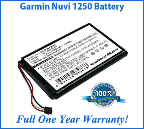 Garmin Nuvi 1250 Battery Replacement Kit with Tools, Video Instructions and Extended Life Battery - NewPower99 USA