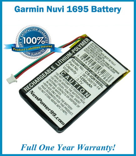 Garmin Nuvi 1695 Battery Replacement Kit with Tools, Video Instructions and Extended Life Battery - NewPower99 USA