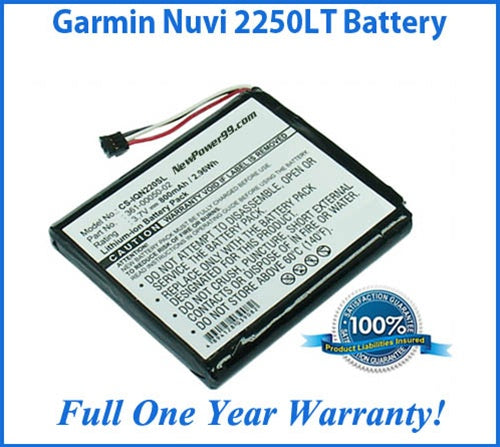 Battery Replacement Kit For The Garmin Nuvi 2250LT GPS - NewPower99 USA