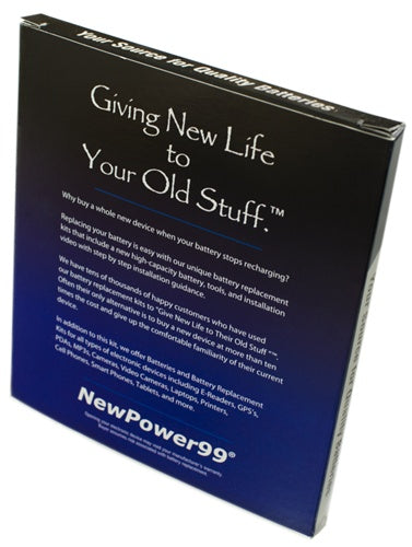 Garmin Nuvi 265W Battery Replacement Kit with Tools, Video Instructions and Extended Life Battery - NewPower99 USA