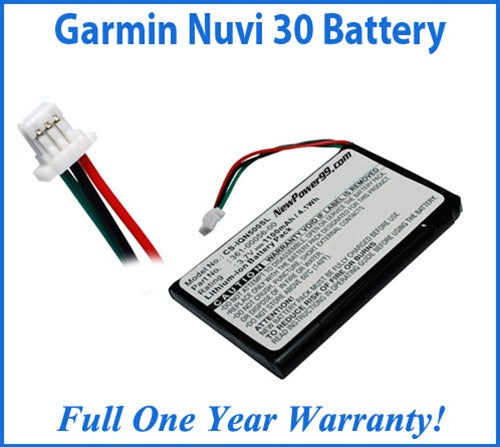 Garmin Nuvi 30 Battery Replacement Kit with Tools, Video Instructions and Extended Life Battery - NewPower99 USA