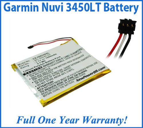 Garmin Nuvi 3450LT Battery Replacement Kit with Tools, Video Instructions and Extended Life Battery - NewPower99 USA