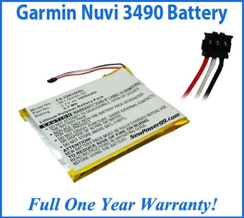 Garmin Nuvi 3490 Battery Replacement Kit with Tools, Video Instructions and Extended Life Battery - NewPower99 USA