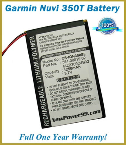 Battery Replacement Kit For The Garmin Nuvi 350T GPS - NewPower99 USA
