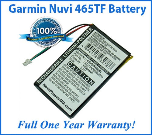 Battery Replacement Kit For The Garmin Nuvi 465TF GPS - NewPower99 USA