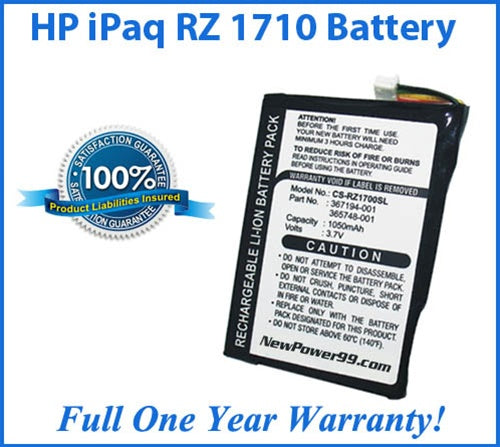 HP iPAQ RZ1710 Battery Replacement Kit with Tools, Video Instructions and Extended Life Battery - NewPower99 USA