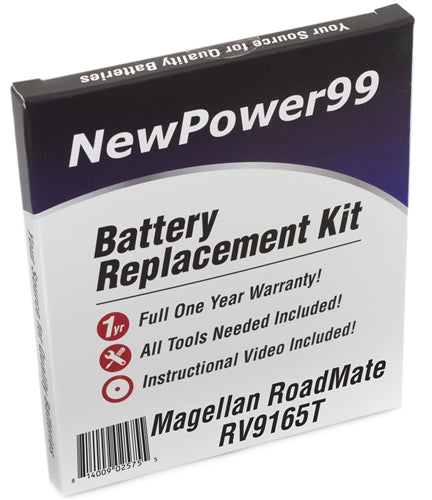 Magellan Roadmate RV9165T Battery Replacement Kit with Tools, Video Instructions and Extended Life Battery - NewPower99 USA