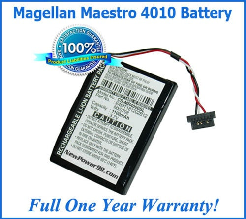 Magellan Maestro 4010 Battery Replacement Kit with Tools, Video Instructions and Extended Life Battery - NewPower99 USA