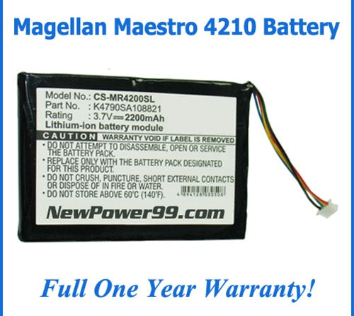 Magellan Maestro 4210 Battery Replacement Kit with Tools, Video Instructions and Extended Life Battery - NewPower99 USA
