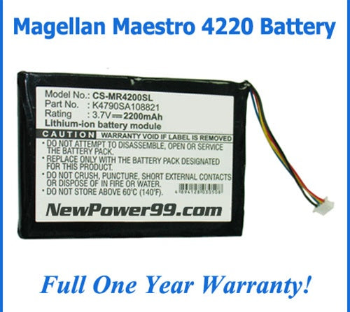 Magellan Maestro 4220 Battery Replacement Kit with Tools, Video Instructions and Extended Life Battery - NewPower99 USA