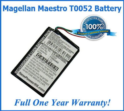 Battery For The Magellan Maestro T0052 - Super Extended Life - NewPower99 USA