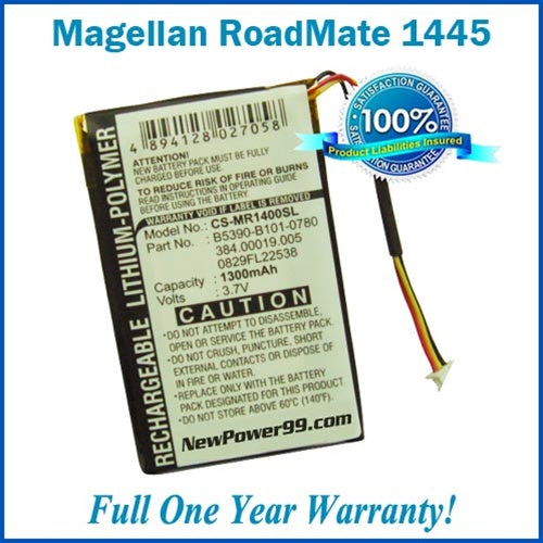 Battery Replacement Kit For The Magellan RoadMate 1445 - NewPower99 USA