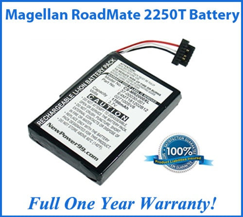 Battery For The Magellan RoadMate 2250T - Super Capacity - NewPower99 USA