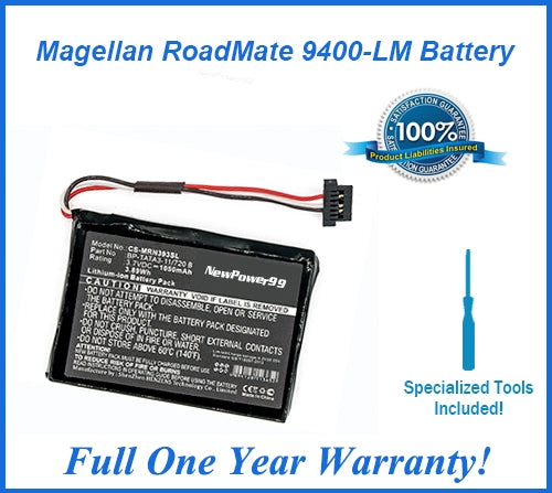 Magellan Roadmate 9400-LM Extended Life Battery with Installation Tools and Full One Year Warranty - NewPower99 USA