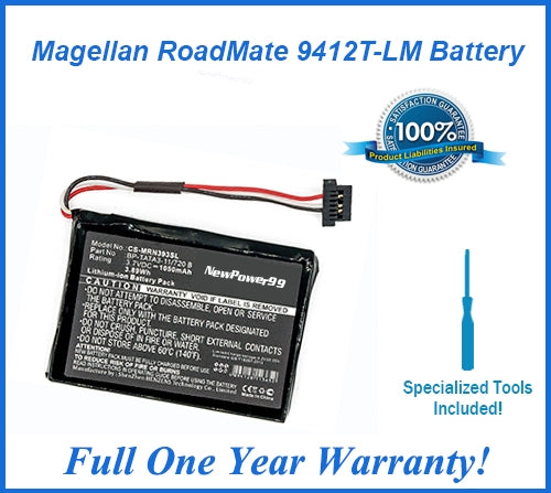 Magellan Roadmate 9412T-LM Extended Life Battery with Installation Tools and Full One Year Warranty - NewPower99 USA