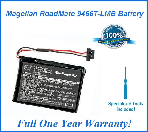 Magellan Roadmate 9465T-LMB Extended Life Battery with Installation Tools and Full One Year Warranty - NewPower99 USA