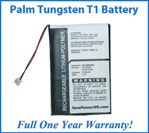 Palm Tungsten T1 (Tungsten T) Battery Replacement Kit with Tools, Video Instructions and Extended Life Battery - NewPower99 USA