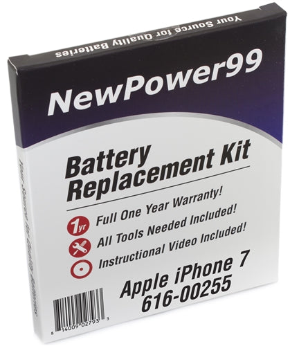 Apple iPhone 7 616-00255 Battery Replacement Kit with Tools, Video Instructions and Extended Life Battery - NewPower99 USA