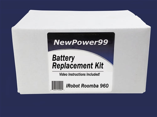 Roomba 960 Battery Replacement Kit with Tools, Video Instructions and Extended Life Battery - NewPower99 USA