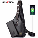 Load image into Gallery viewer, JackKevin Mens Chest Bags Fashion  Man Messenger Bag Theftproof Rotatable Button Open Travel Crossbody Bag Man Waist Pack