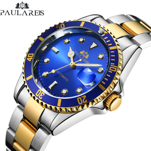 PAULAREIS Luxury Automatic Date Dial Business Watch